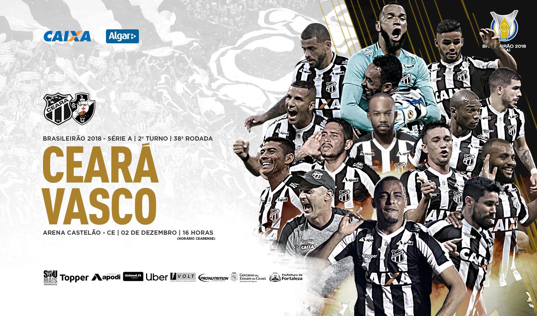 91c957a07a Campeonato Brasileiro Venda de ingressos para a partida entre Ceará e Vasco  inicia nessa segunda-feira