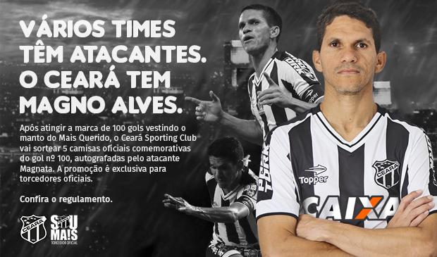Ceará Sporting Club - Magnata  camisa oficial comemorativa do gol 100 1ea050aaaac76