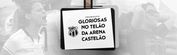 Gloriosas no telão da Arena Castelão